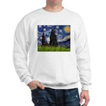 Starry Night /Belgian Sheepdog Sweatshirt