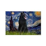 Starry Night /Belgian Sheepdog Rectangle Magnet (1