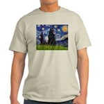 Starry Night /Belgian Sheepdog Light T-Shirt