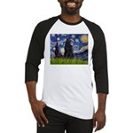 Starry Night /Belgian Sheepdog Baseball Jersey
