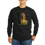 Fairies /Belgian Sheepdog Long Sleeve Dark T-Shirt