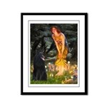 Fairies /Belgian Sheepdog Framed Panel Print