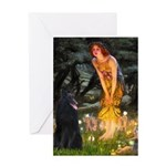 Fairies /Belgian Sheepdog Greeting Card
