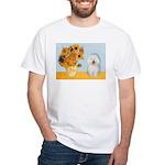 Sunflowers & Bolognese White T-Shirt