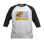 Sunflowers & Bolognese Kids Baseball Jersey