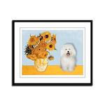 Sunflowers & Bolognese Framed Panel Print