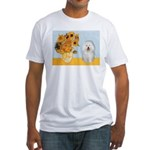 Sunflowers & Bolognese Fitted T-Shirt