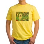 Irises & Bolognese Yellow T-Shirt