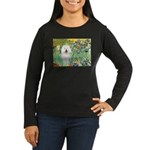 Irises & Bolognese Women's Long Sleeve Dark T-Shir