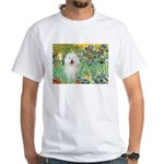 Irises & Bolognese White T-Shirt