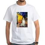 Terrace Cafe & Borzoi White T-Shirt