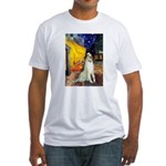 Terrace Cafe & Borzoi Fitted T-Shirt