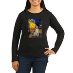 Terrace Cafe & Borzoi Women's Long Sleeve Dark T-S