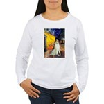 Terrace Cafe & Borzoi Women's Long Sleeve T-Shirt