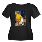 Terrace Cafe & Borzoi Women's Plus Size Scoop Neck