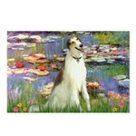 Borzoi in Monet's Lilies Postcards (Package of 8)