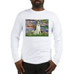 Borzoi in Monet's Lilies Long Sleeve T-Shirt