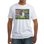 Borzoi in Monet's Lilies Fitted T-Shirt