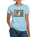Borzoi in Monet's Lilies Women's Light T-Shirt