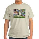 Borzoi in Monet's Lilies Light T-Shirt