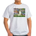 Borzoi in Monet's Lilies Light T-Shirt