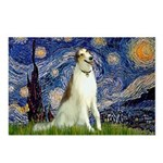 Starry Night & Borzoi Postcards (Package of 8)