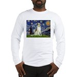 Starry Night & Borzoi Long Sleeve T-Shirt