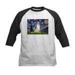 Starry Night & Borzoi Kids Baseball Jersey