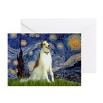 Starry Night & Borzoi Greeting Cards (Pk of 10)