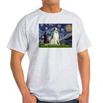 Starry Night & Borzoi Light T-Shirt