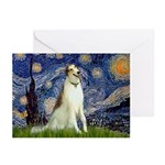 Starry Night & Borzoi Greeting Cards (Pk of 20)