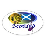 Dynamic Scotland' Oval Decal