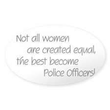 Best Police Officers Oval Decal