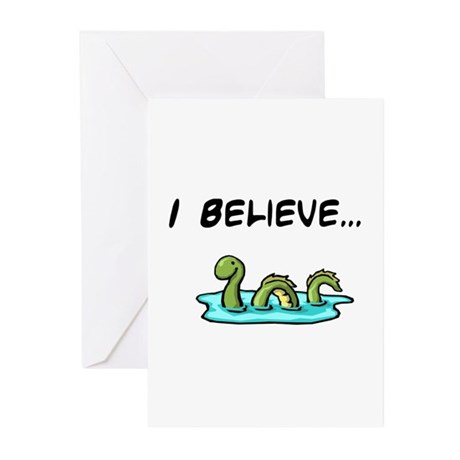 I Believe in the Loch Ness Mo Greeting Cards (Pk o