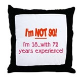 Cute 90 years old Throw Pillow