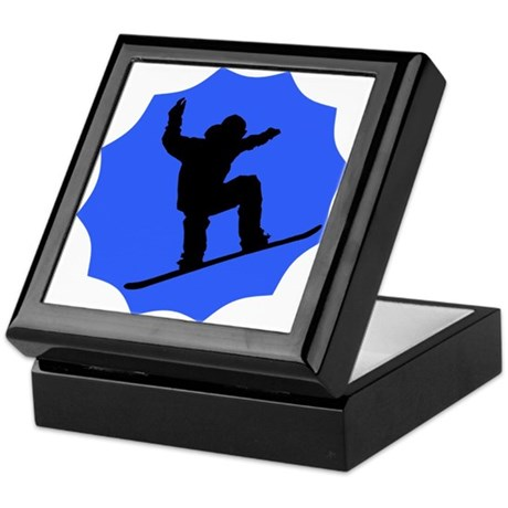 Blue Snowboarder Keepsake Box
