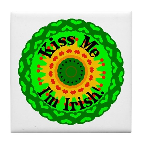 Kiss Me Tile Coaster