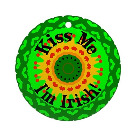 Kiss Me Ornament (Round)