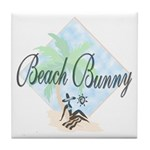 Beach Bunny Tile Coaster
