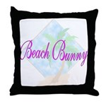 Beach Bunny Throw Pillow