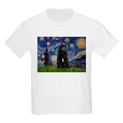 Starry Night Bouvier Kids Light T-Shirt