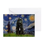 Starry Night Bouvier Greeting Cards (Pk of 10)