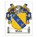 Webb Family Crest Small Poster