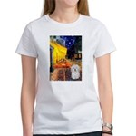 Cafe with Coton de Tulear Women's T-Shirt