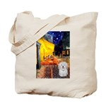 Cafe with Coton de Tulear Tote Bag