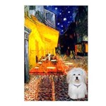 Cafe with Coton de Tulear Postcards (Package of 8)