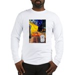 Cafe with Coton de Tulear Long Sleeve T-Shirt
