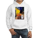 Cafe with Coton de Tulear Hooded Sweatshirt