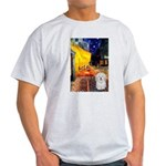 Cafe with Coton de Tulear Light T-Shirt