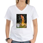 Midsummer's Eve Coton Women's V-Neck T-Shirt